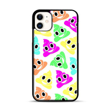 Load image into Gallery viewer, Colourful Poop Emojis iPhone 11 Case.jpg, Black Plastic Case | Webluence.com