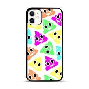 Colourful Poop Emojis iPhone 11 Case.jpg, Black Plastic Case | Webluence.com