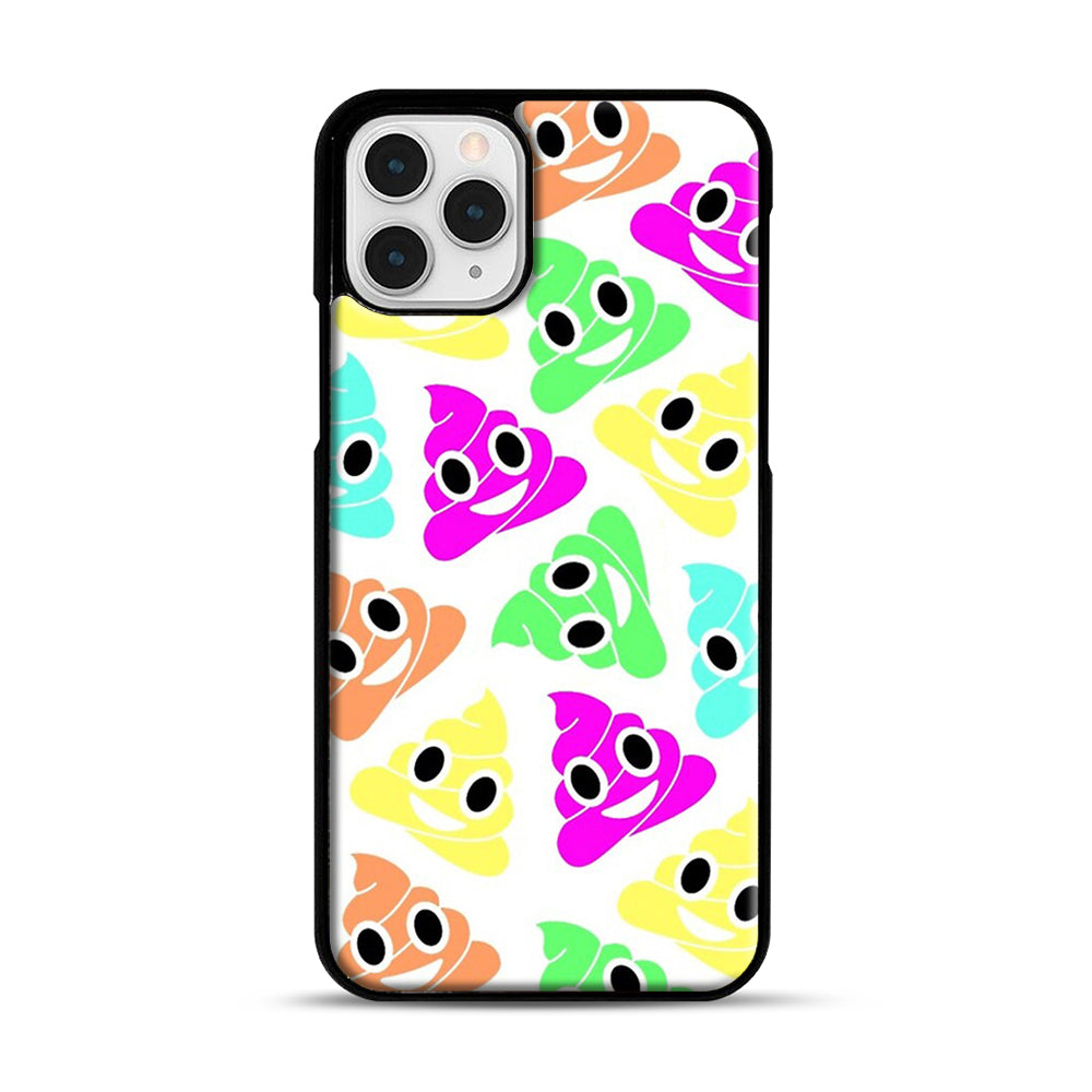 Colourful Poop Emojis iPhone 11 Pro Case, Black Plastic Case | Webluence.com