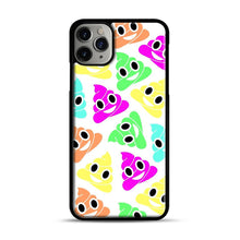 Load image into Gallery viewer, Colourful Poop Emojis iPhone 11 Pro Max Case.jpg, Black Plastic Case | Webluence.com