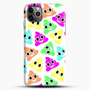 Colourful Poop Emojis iPhone 11 Pro Max Case.jpg, Snap Case | Webluence.com