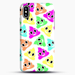 Colourful Poop Emojis iPhone XS Max Case, Snap Case | Webluence.com