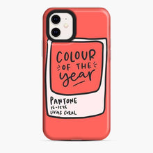 Load image into Gallery viewer, Coral Pantone Lily Colour Of The Year iPhone 11 Case