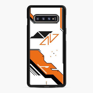 Counter Strike Asiimov Design Scgo Samsung Galaxy S10 Case, Black Rubber Case