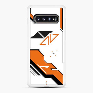 Counter Strike Asiimov Design Scgo Samsung Galaxy S10 Case, White Rubber Case