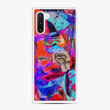 Load image into Gallery viewer, Creepy Painting Trippie Redd Samsung Galaxy Note 10 Case, White Rubber Case