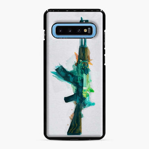 Cs Go Ak 47 Fire Serpent Samsung Galaxy S10 Case, Black Plastic Case