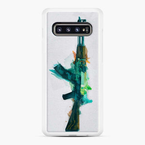 Cs Go Ak 47 Fire Serpent Samsung Galaxy S10 Case, White Rubber Case