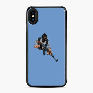 Cs Go Terrorists Sticker iPhone XS Max Case, Black Plastic Case