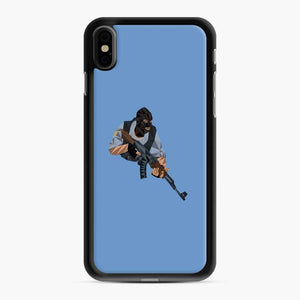 Cs Go Terrorists Sticker iPhone XS Max Case, Black Rubber Case