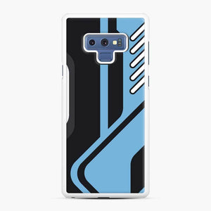 Csgo Blue Black Pattern Samsung Galaxy Note 9 Case, White Rubber Case
