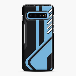 Csgo Blue Black Pattern Samsung Galaxy S10 Case, Black Plastic Case
