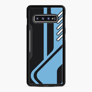 Csgo Blue Black Pattern Samsung Galaxy S10 Case, Black Rubber Case