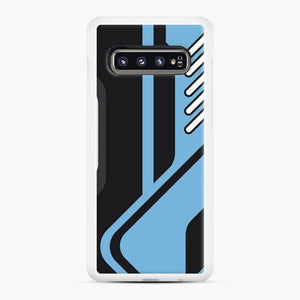 Csgo Blue Black Pattern Samsung Galaxy S10 Case, White Rubber Case