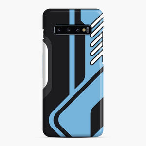 Csgo Blue Black Pattern Samsung Galaxy S10 Case, Snap Case