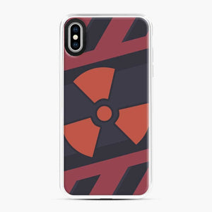 Csgo Nuclear iPhone XS Max Case, White Plastic Case