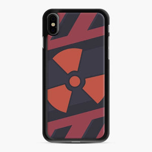 Csgo Nuclear iPhone XS Max Case, Black Rubber Case