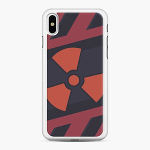 Csgo Nuclear iPhone XS Max Case, White Rubber Case