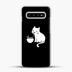 Cute Cat Eating Ramen Samsung Galaxy S10 Plus Case, Snap Case | Webluence.com