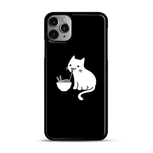 Cute Cat Eating Ramen iPhone 11 Pro Max Case