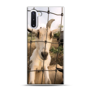 Cute Goat Pictures Samsung Galaxy Note 10 Case, White Plastic Case | Webluence.com