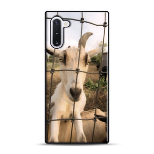 Cute Goat Pictures Samsung Galaxy Note 10 Case, Black Rubber Case | Webluence.com