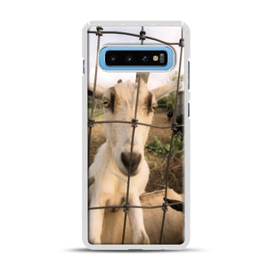 Cute Goat Pictures Samsung Galaxy S10 Plus Case, White Rubber Case | Webluence.com
