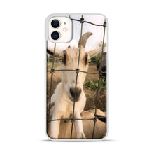 Load image into Gallery viewer, Cute Goat Pictures iPhone 11 Case.jpg, White Plastic Case | Webluence.com