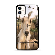 Load image into Gallery viewer, Cute Goat Pictures iPhone 11 Case.jpg, Black Plastic Case | Webluence.com