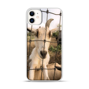 Cute Goat Pictures iPhone 11 Case.jpg, White Rubber Case | Webluence.com