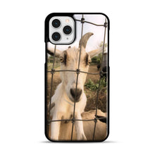 Load image into Gallery viewer, Cute Goat Pictures iPhone 11 Pro Case, Black Plastic Case | Webluence.com