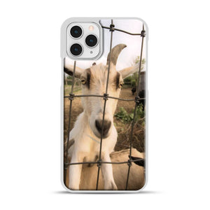 Cute Goat Pictures iPhone 11 Pro Case, White Rubber Case | Webluence.com