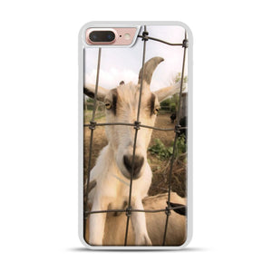 Cute Goat Pictures iPhone 7 Plus/8 Plus Case, White Rubber Case | Webluence.com