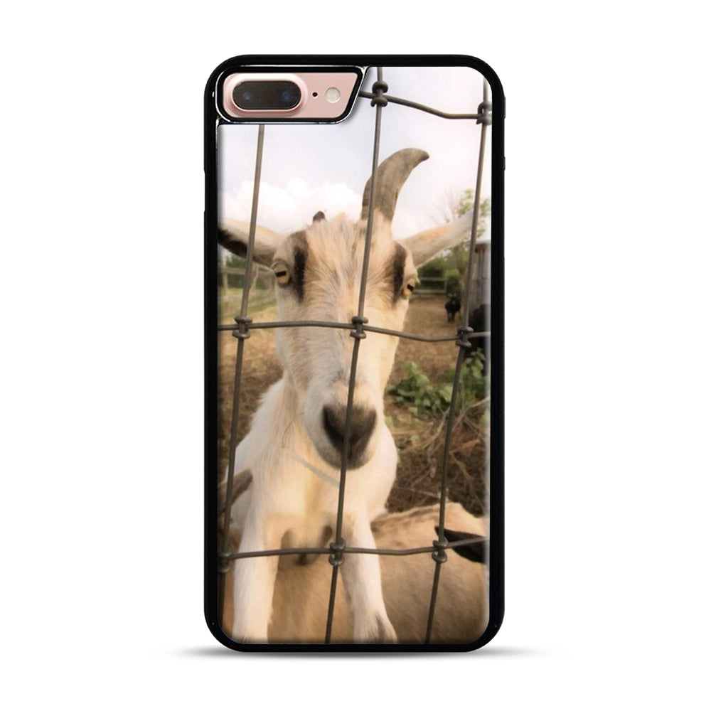 Cute Goat Pictures iPhone 7 Plus/8 Plus Case, Black Plastic Case | Webluence.com