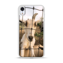 Load image into Gallery viewer, Cute Goat Pictures iPhone XR Case, White Plastic Case | Webluence.com