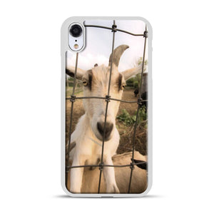 Cute Goat Pictures iPhone XR Case, White Rubber Case | Webluence.com
