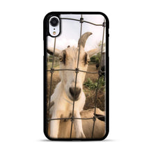 Load image into Gallery viewer, Cute Goat Pictures iPhone XR Case, Black Rubber Case | Webluence.com