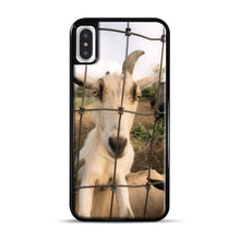 Load image into Gallery viewer, Cute Goat Pictures iPhone X/XS Case, Black Plastic Case | Webluence.com