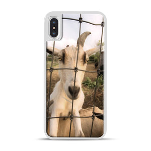 Cute Goat Pictures iPhone X/XS Case, White Rubber Case | Webluence.com