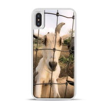 Load image into Gallery viewer, Cute Goat Pictures iPhone X/XS Case, White Plastic Case | Webluence.com