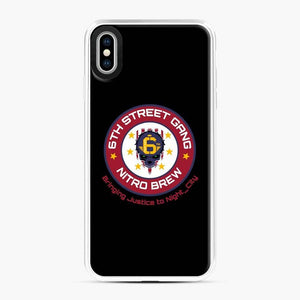 Cyberpunk 6Th Street Gang Coffee Starbucks Clean Ver iPhone XS Max Case, White Plastic Case