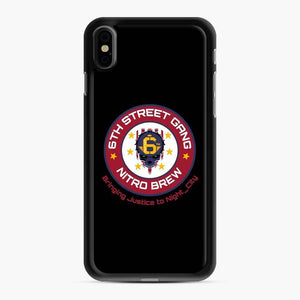 Cyberpunk 6Th Street Gang Coffee Starbucks Clean Ver iPhone XS Max Case, Black Rubber Case