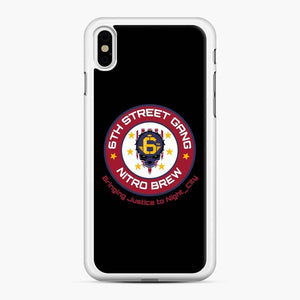 Cyberpunk 6Th Street Gang Coffee Starbucks Clean Ver iPhone XS Max Case, White Rubber Case