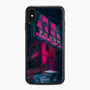 Cyberpunk Gaming Theme iPhone XS Max Case, Black Plastic Case