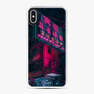 Cyberpunk Gaming Theme iPhone XS Max Case, White Plastic Case
