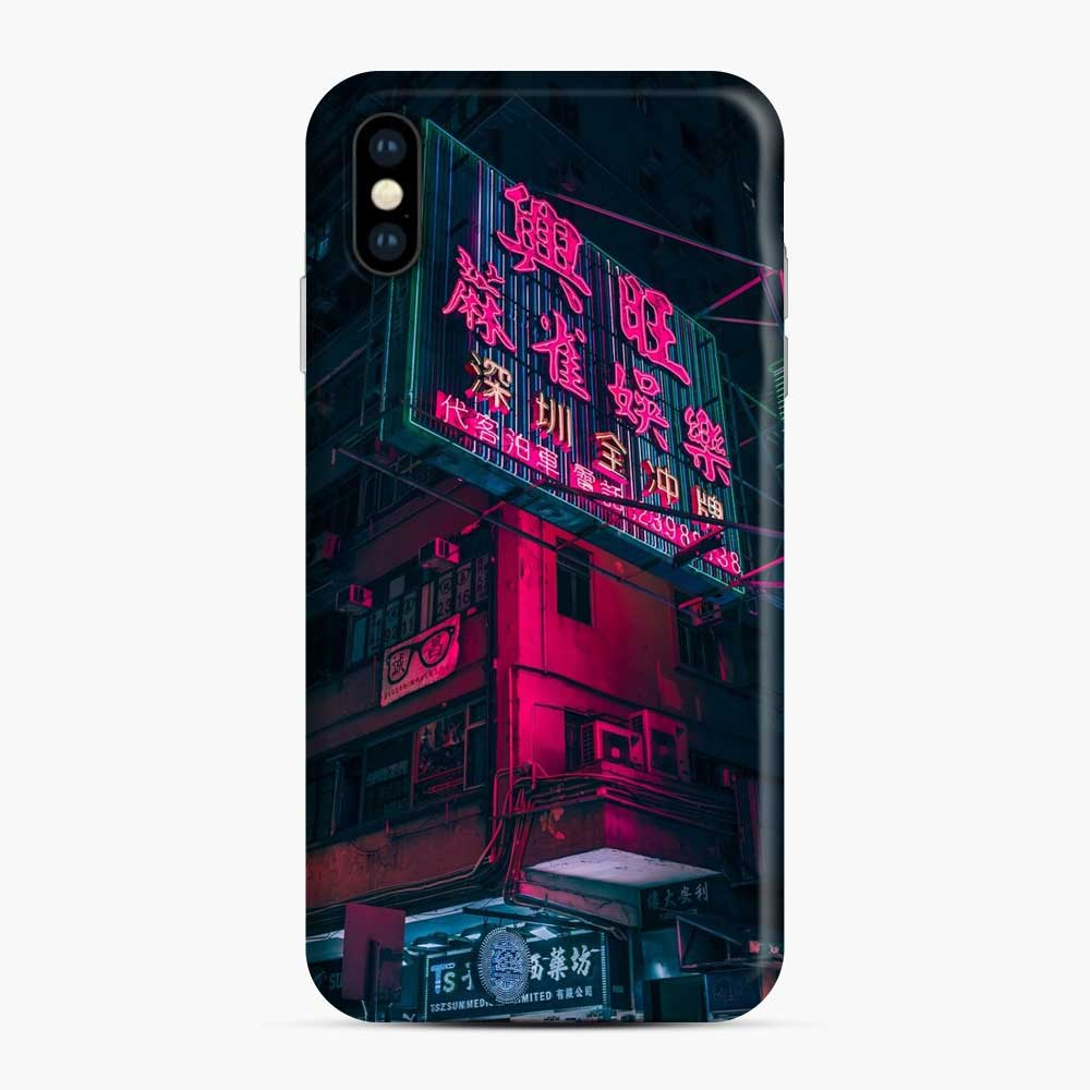 Cyberpunk Gaming Theme iPhone XS Max Case, Snap Case