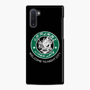 Cyberpunk Samurai Coffee Starbucks Black White Samsung Galaxy Note 10 Case, Snap Case