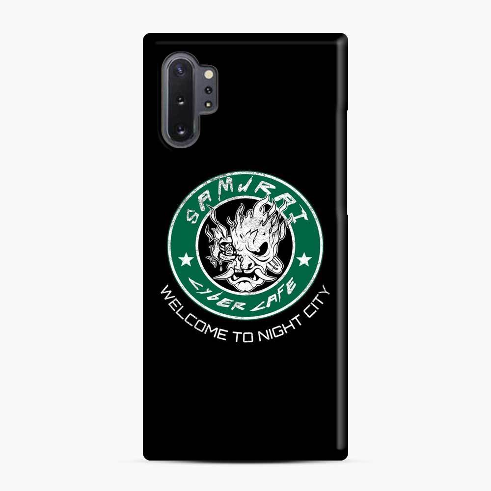Cyberpunk Samurai Coffee Starbucks Black White Samsung Galaxy Note 10 Plus Case, Snap Case