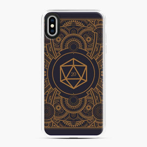 D20 Dice Steampunk Mech Dungeons And Dragons iPhone XS Max Case