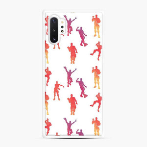 Dance Fortnite Samsung Galaxy Note 10 Plus Case, White Rubber Case